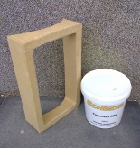 Tisztítóajtó csatlakozó keret ragasztóval (utólagos beépítéshez)